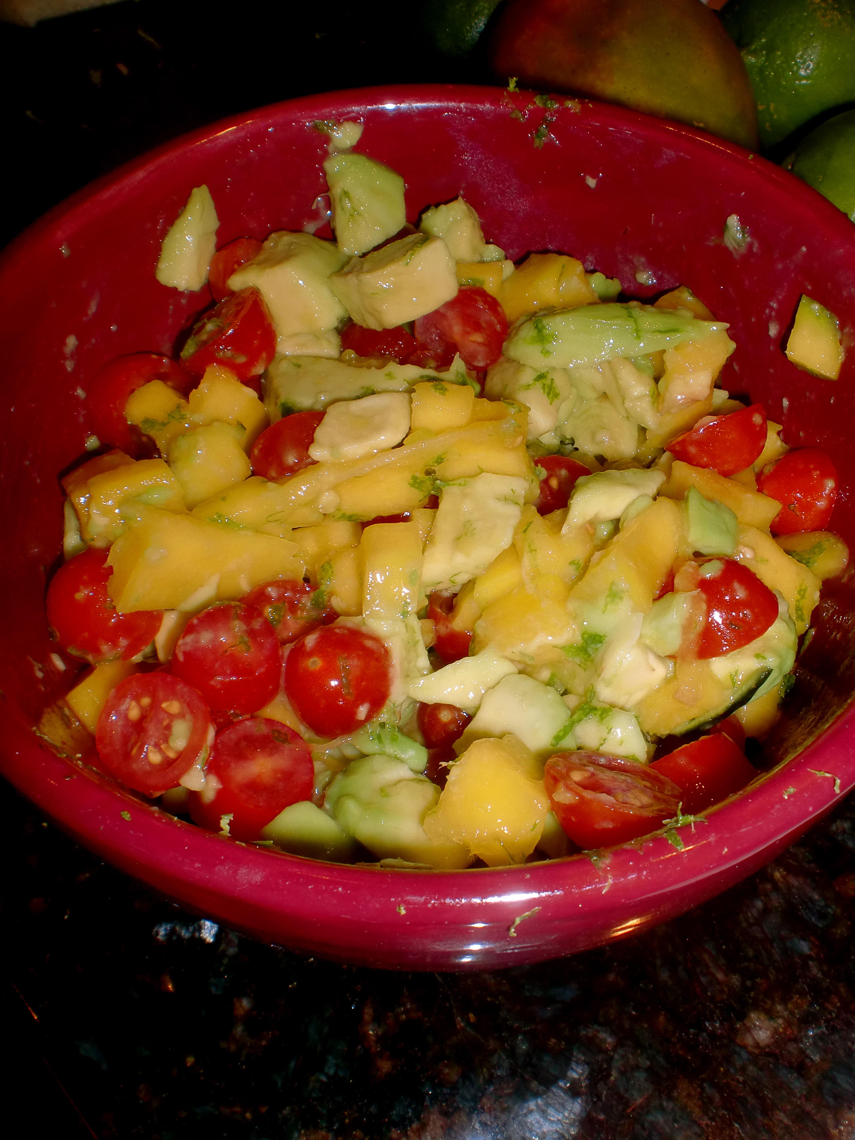 Grilled Tilapia with Mango-Avocado Salsa.